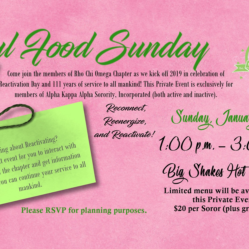 Soul Food Sunday with RCO