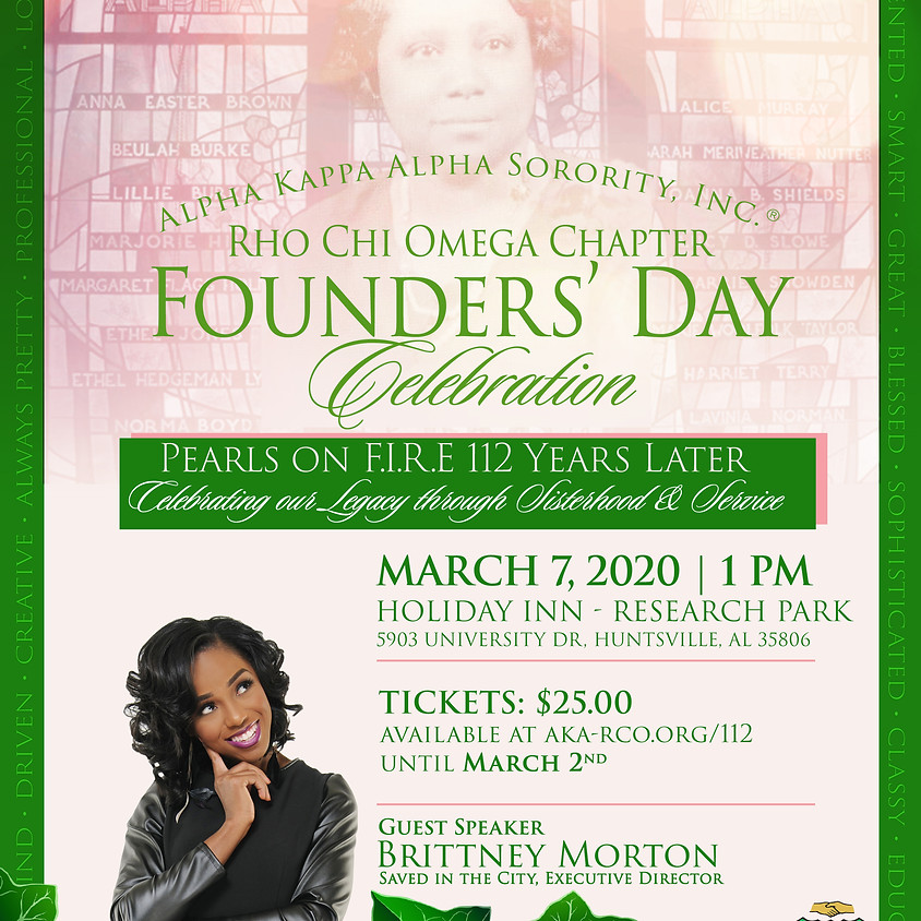 Rho Chi Omega Founders' Day Celebration