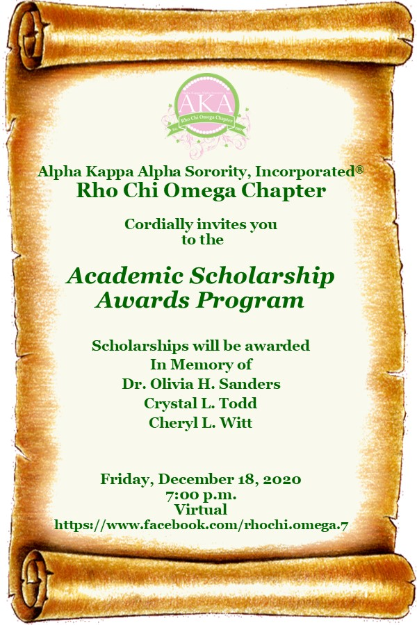 Invite to Scholarship program