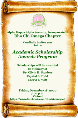 Invite to Scholarship program