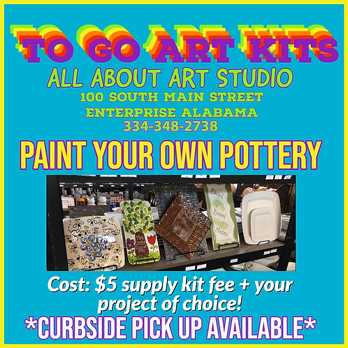 "To Go Art Kits ""Paint Your Own Pottery"""
