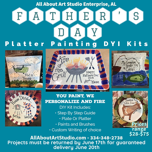 Father's Day Platter Painting DIY Kits