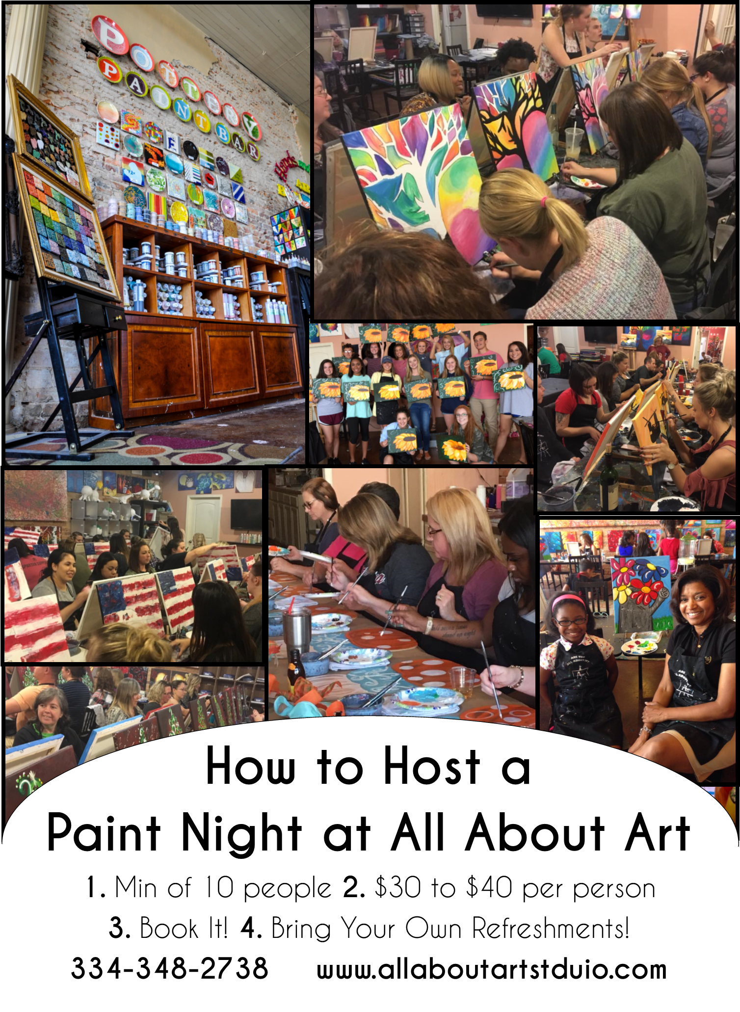 All About Art Studio, PYOP Paint And Sip Enterprise