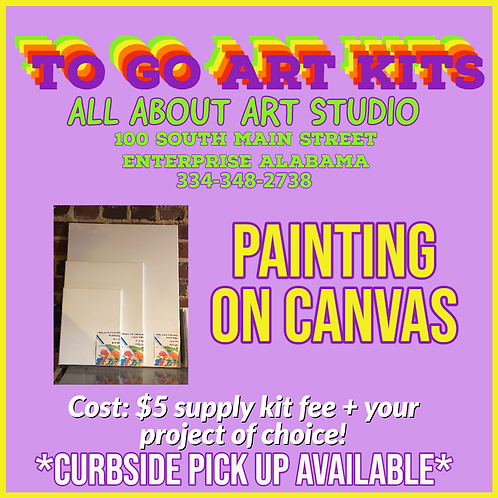 "To Go Art Kits ""PAINTING ON CANVAS"""