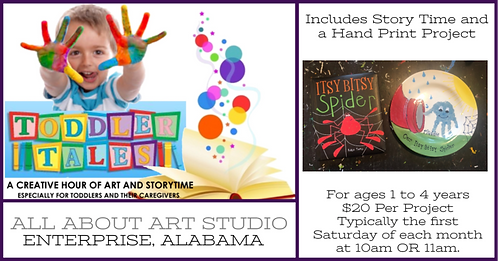 "June 6th @ 10AM OR 11AM Toddler Tales ""Itsy Bitsy Spider"""