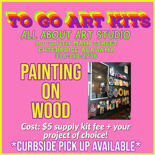 "To Go Art Kits ""PAINTING ON WOOD"""