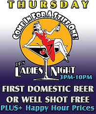 Congo Lounge: Thursday's Lady's Night - First Domestic Beer or Well Shot is FREE +PLUS Happy Hour prices for Ladies 3pm-10pm