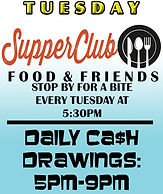 Jungle Casino: Supper Club Every Tuesday at 5:30pm PLUS Daily Cash Drawigs 5m-9pm