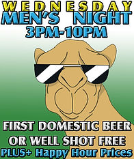 Congo Lounge: Wednesday's Men's Night - First Domestic Beer or Well Shot is FREE +PLUS Happy Hour prices for Men 3pm-10pm