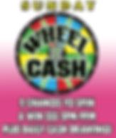 Jungle Casino: Sunday's Wheel of CASH +Plus Daily Cash drawings 5pm-9pm