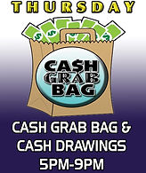 Jungle Casino: Thursday's Cash Bag Bag & Cash Drawings 5pm-9pm