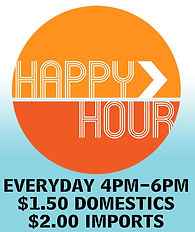 Congo Lounge: Happ Hour Daily 4pm-6pm $1.50 Domestic Beer $2.00 Imported Beer