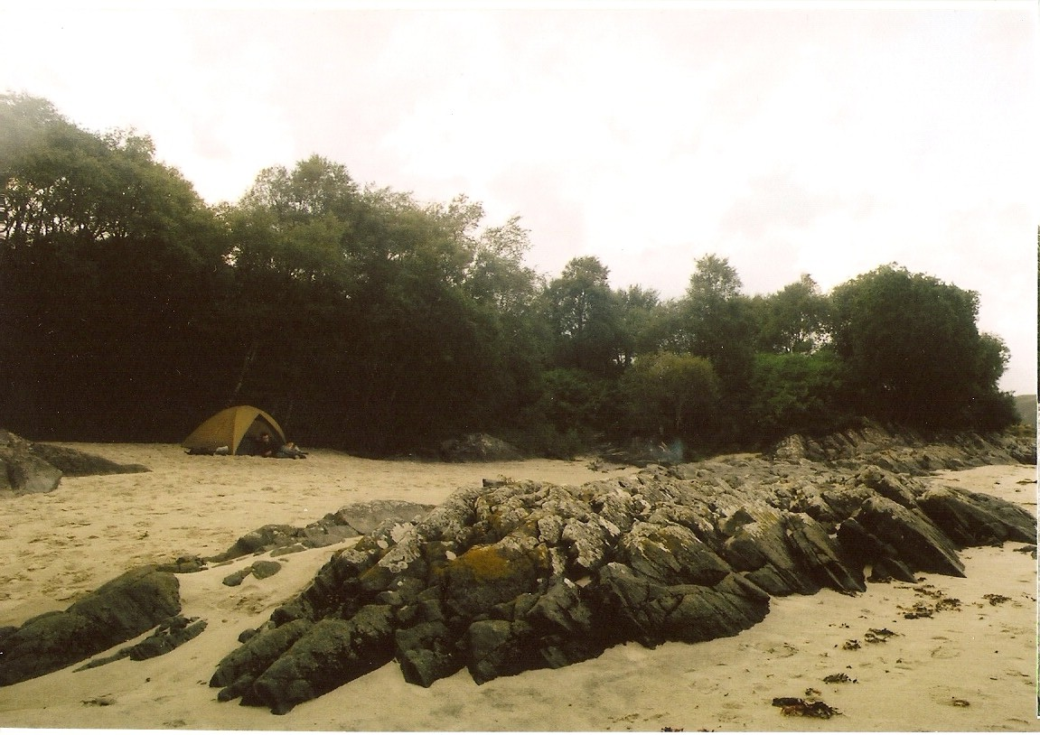 Campin on Morar beach