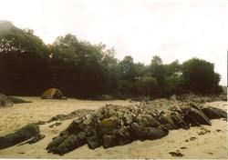 Campin on Morar beach