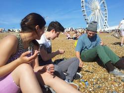 Julia, Suez, Andrew. Brighton