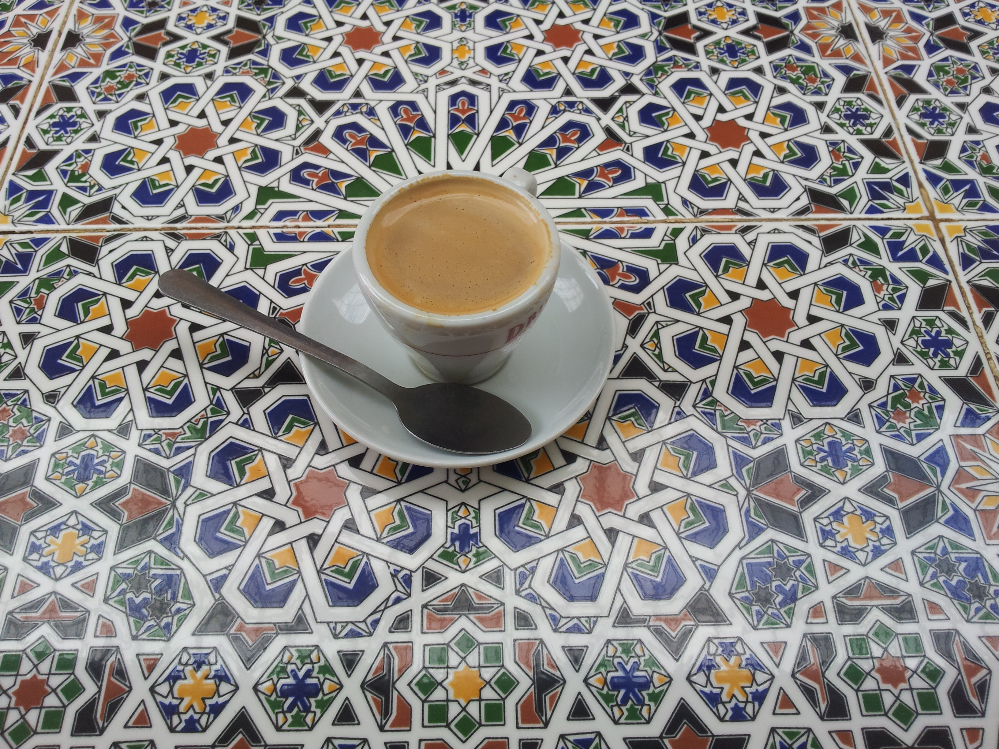 Islamic table, arabic coffee. Bristo