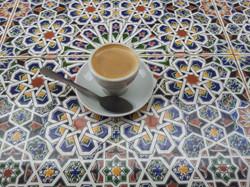 Islamic table, arabic coffee. Bristo