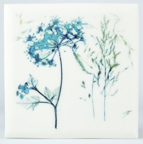 Cow Parsley and Grasses tile II