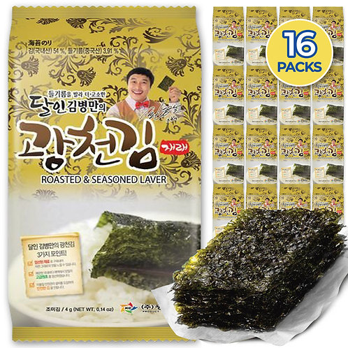Kwangcheonkim Seasoned Seaweed Sheets Snacks (16packs)