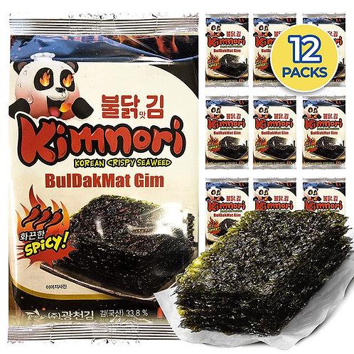 Flaming Hot Spicy Flavor Kim Nori Seasoned Seaweed Snacks (12Packs)