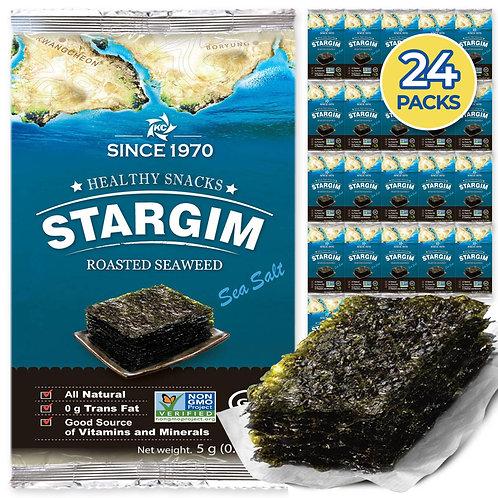 STARGIM Seasoned Seaweed Snacks Sheets (24Packs)