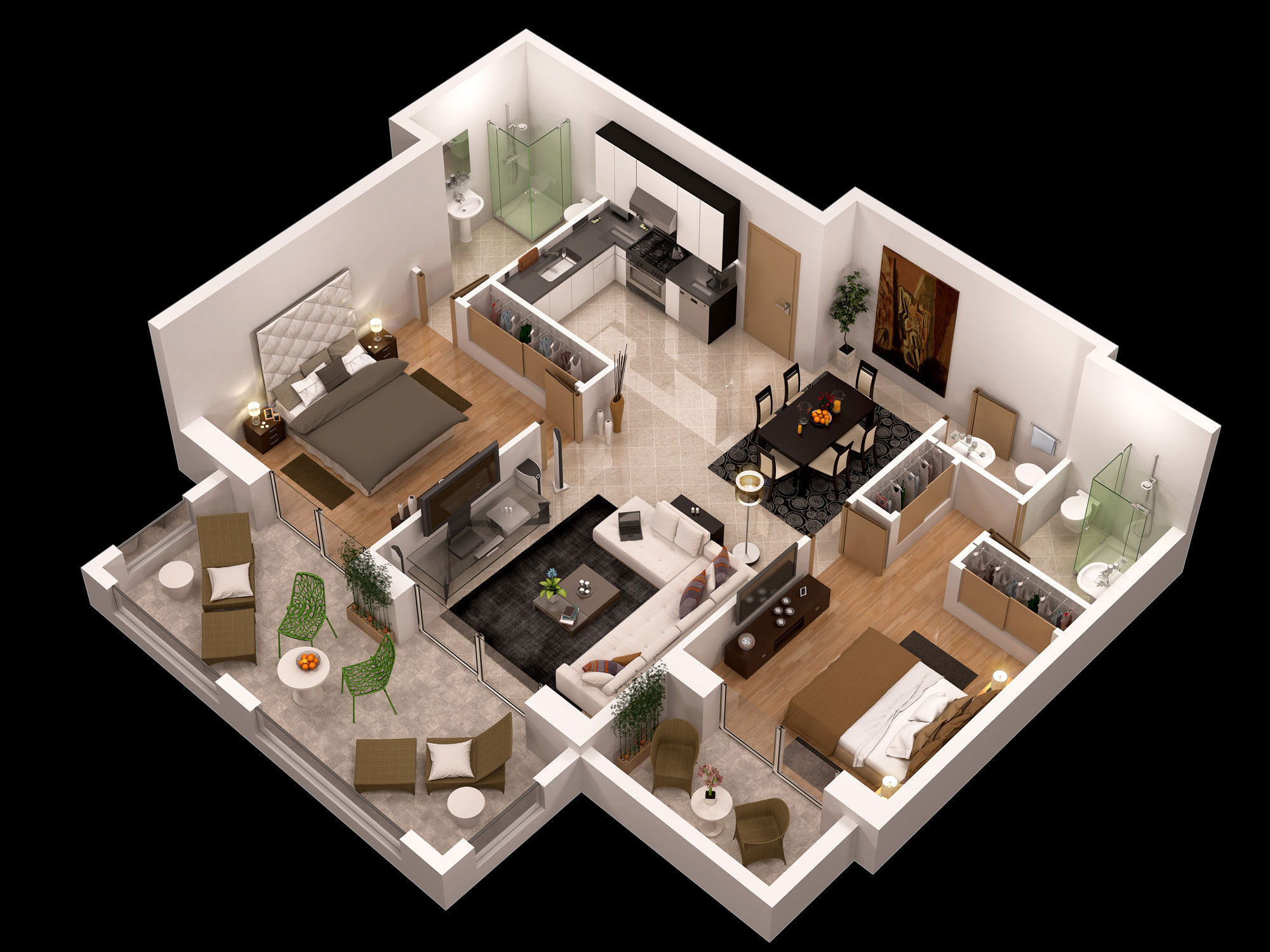 detailed-floor-plan-3d-3d-model-max-obj