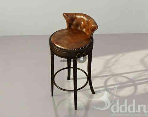 FormatFactoryClassic_Bar chair_Leather wood.jpg