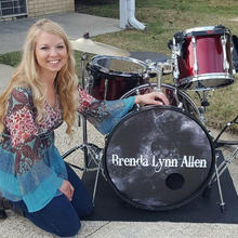 Posing with the Drums