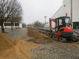 construction site power line