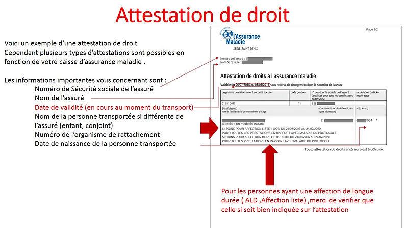 Attestation De Droit Taxi Conventionnee Cpam 95 78 60