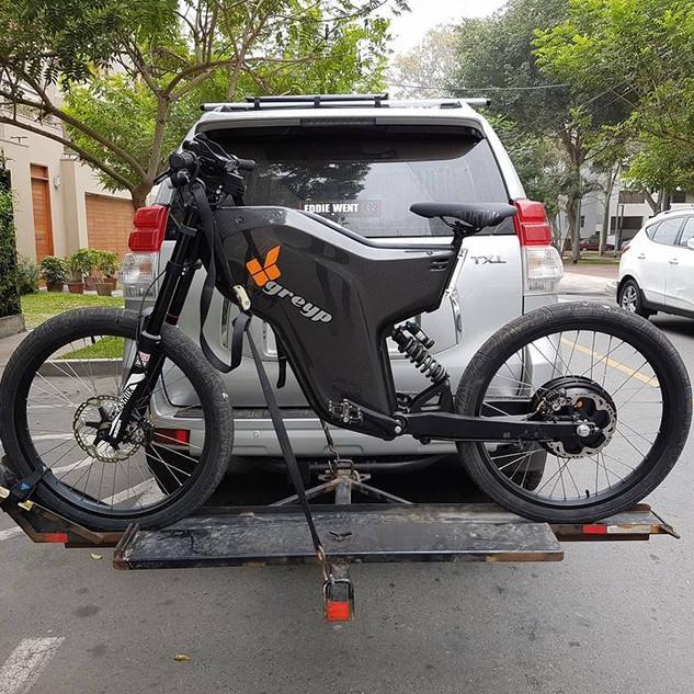 Bicicleta-moto electrica Greyp camino a pruebas de autonomía de batería.