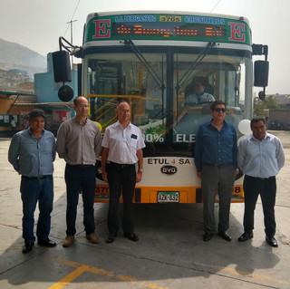Bus eléctrico en Perú San Juan de Lurigancho