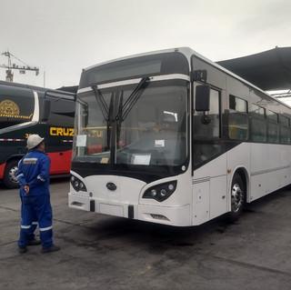 Bus eléctrico BYD de transporte urbano que opera Etul4 en San Juan de Lurigancho.