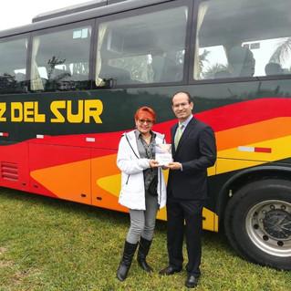 Lanzamiento del bus coach eléctrico de mayor autonomía de Latinoamérica junto con Cruz del Sur como operador.
