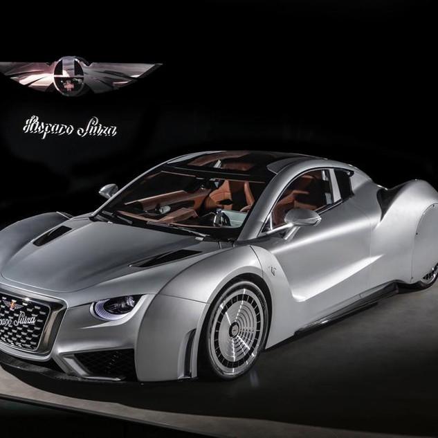 Un ángulo más del elegante Hispano Suiza, versión eléctrico.