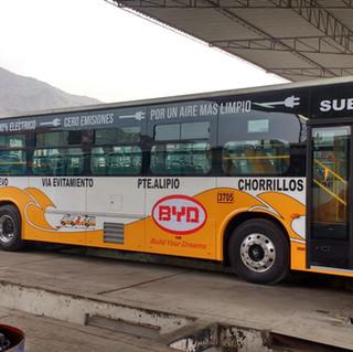 1er bus urbano de transporte público diseñado según normas peruanas para pruebas con el operador Etul4, desde San Juan de Lurigancho a Chorrillos. Este bus empezó pruebas en Mayo del 2019.
