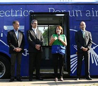 Palabras de la exministra Galarza, en la presentación del primer bus eléctrico en el Peru.