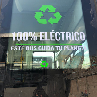 Placade bus100% eléctrico.