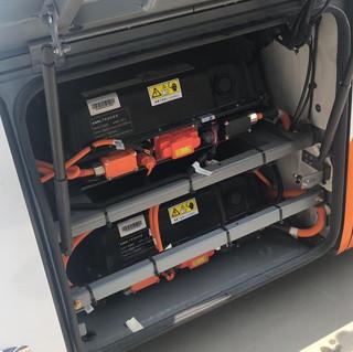 Banco de baterias de Litiohierro-fosfato en un bus eléctrico
