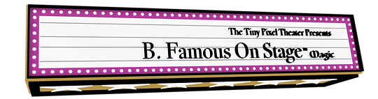 Theater marquee b. famous on stage magic application
