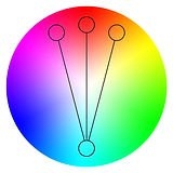 Accented analogous color wheel b. famous on stage magic application