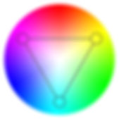 triadic color wheel b. famous on stage magic application