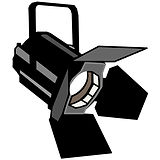 fresnel stage light b. famous on stage magic application