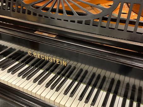 C. Bechstein model A 180 cm zwart gepolitoerd