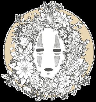No-face, Kaonashi, Studio Ghibli, Fan art Archontia Manolakelli © 2018
