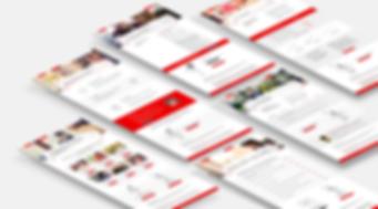 Santander Website design UI