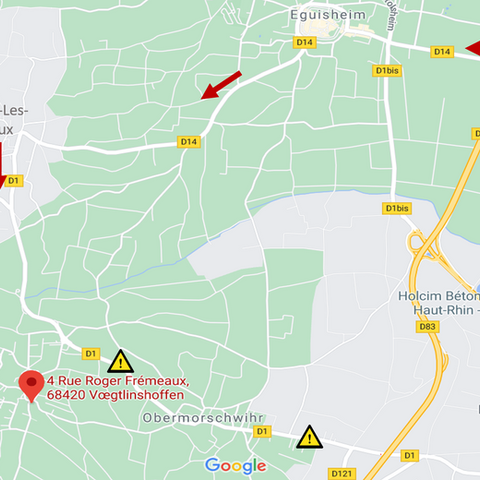 Travaux à Obermorschwihr: route barrée jusqu'au 31/07/2021!
