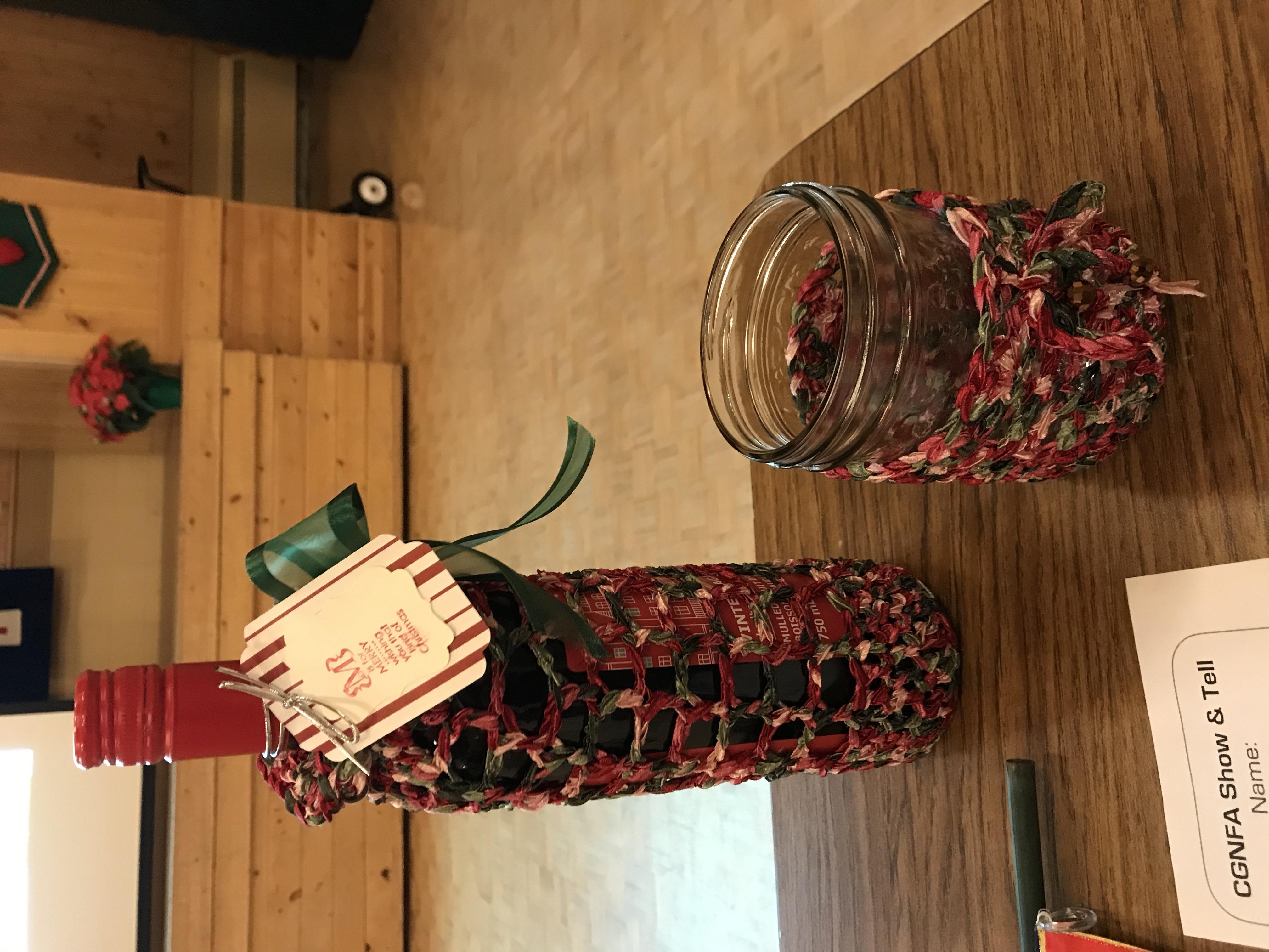 Dina's Knitted Bottle Holder