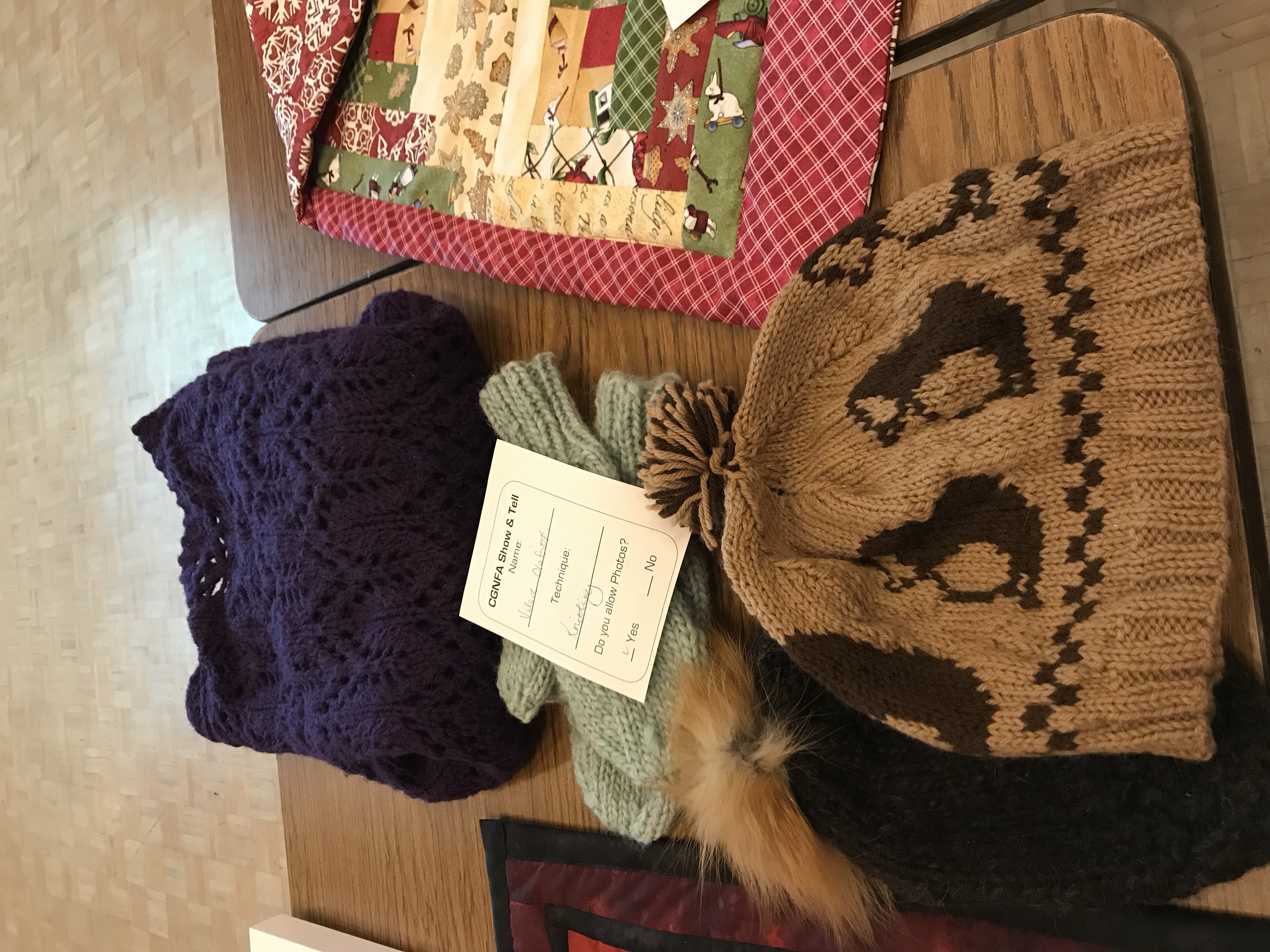 Valarie's knitted items