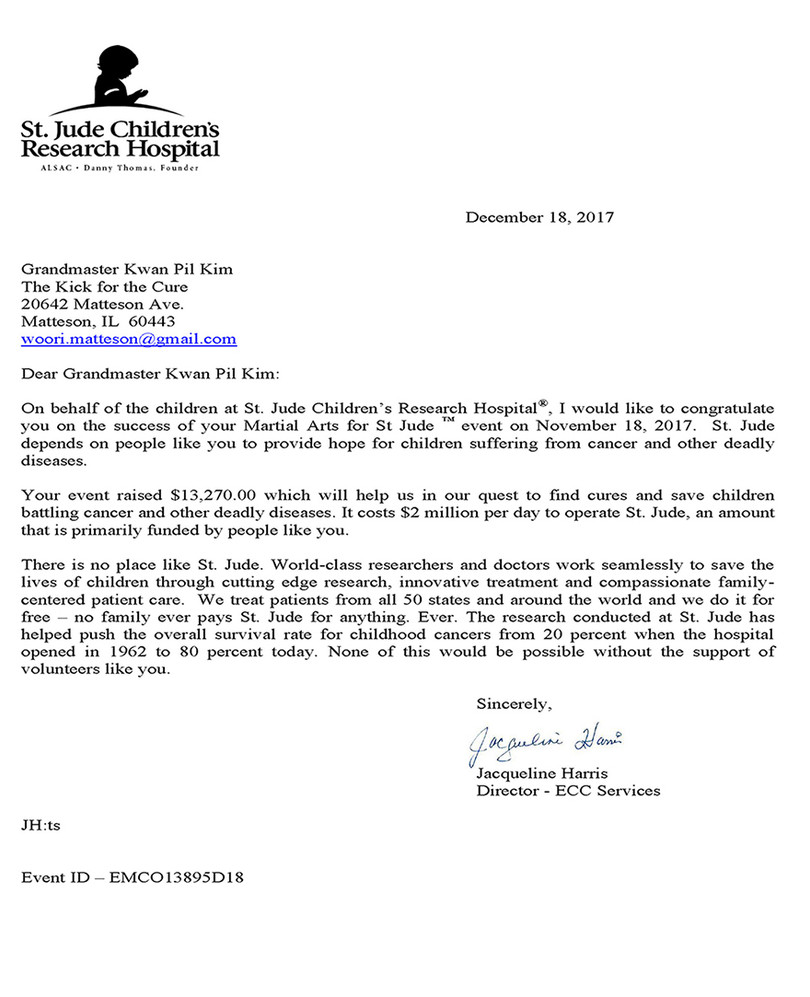 Thank You Letter_ The Kick for the Cure